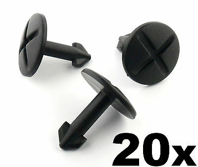 20x Audi Plastic Twist Bolt Clip Pin- Engine Undertray Splashshield Arch Lining