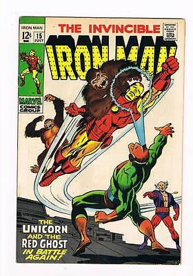 Iron Man # 15  The Unicorn & the Red Ghost !  grade 8.0 movie scarce hot book !!