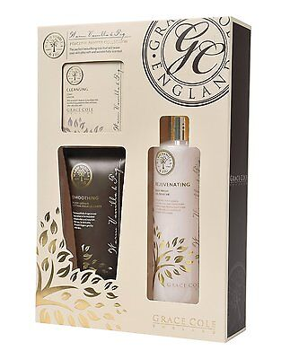 Grace Cole Warm Vanilla Peaceful Pamper Collection 3 Piece Body Gift Set