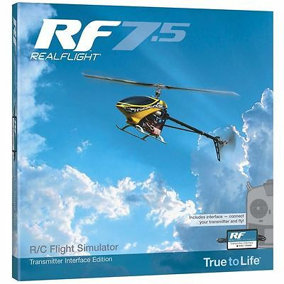 Realflight 7.5 Wired Interface Rc Airplane Helicopter Flight Simulator Gpmz4525