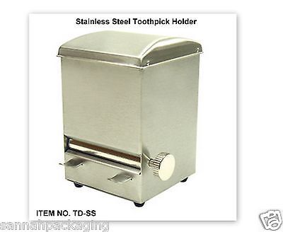 Stainless Steel Toothpick Holder scratch free NEW