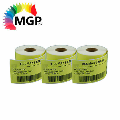 3 rolls of YELLOW 99014 NEW Addess labels for DYMO / SEIKO labelwriter 54x101mm