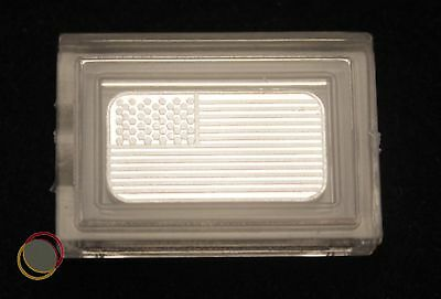 "1 gram ""USA American Flag""  999  SOLID Pure Silver Bullion Bar with capsule"