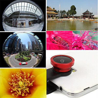 Universal 3in1 Fisheye Wide Angle Macro Clip On Lens for Samsung HTC iPhone