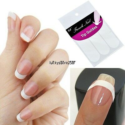 Well 1 Pack French Manicure Nail Art Form Fringe Guides Sticker DIY Stencil LKR8