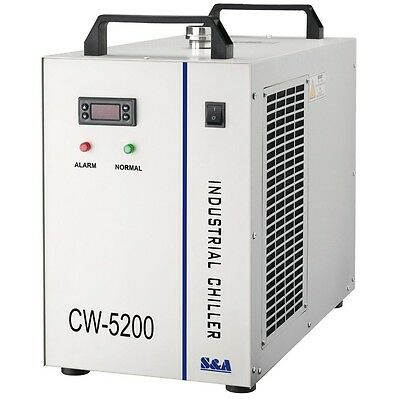 S&A CW-5200AG Industrial Water Chiller for 150W CO2 Laser Tube Cooling --220V
