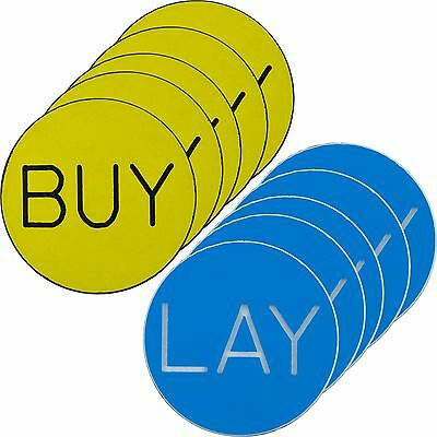 Set of 10 BUY / LAY Chip Button for Craps