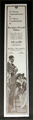 1918 Old Magazine Print Ad, Brandegee-Kincaid Clothes, Dress Comfortably, Art!