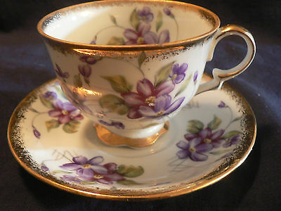 Made in Japan Napco hand painted tea cup and saucer