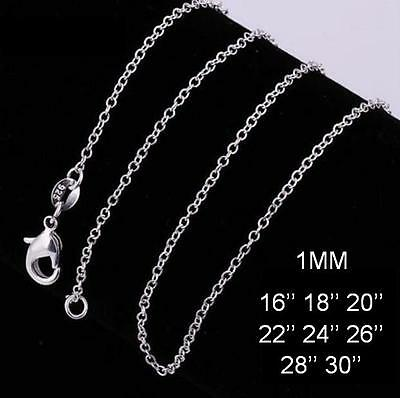 Stunning 925 Sterling Silver 1MM Rolo Link Necklace Chain Wholesale Price