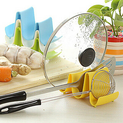 2014 Wave Style Pan Pot Cover Spoon Lid Rack Rest Stand Holder Kitchen Utensil
