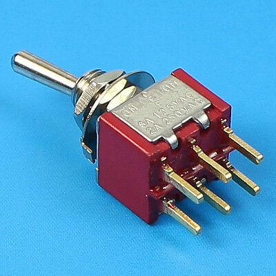 DPDT Mini Toggle Switch ON-OFF-ON PCB-Mount Premium Quality. USA Stock!!!