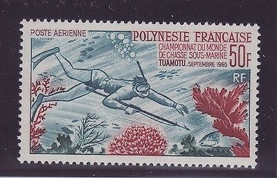 Polinesia Francese Pesci/Fish PA stamps