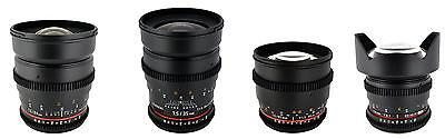 Samyang Cine Lens Kit for Canon - 35mm T1.5 + 24mm T1.5 + 14mm T3.1 + 85mm T1.5