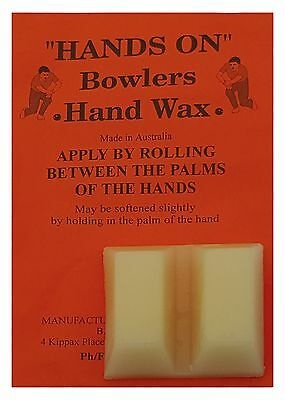 BOWLS Grip Aid Hands On Bowlers Hand Finger Wax Two Blocks Australian Made