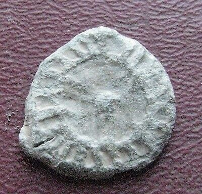 Authentic Ancient Artifact   Lead Roman Solar Seal  12742