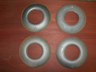 Quoits,4 lb., Cast Iron,Lancaster Style,Horseshoes made in the U.S.A.