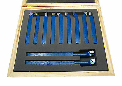 Rdgtools 11Pc Mini Lathe Tool Set / 8Mm Square Boxed Brazed Carbide Myford