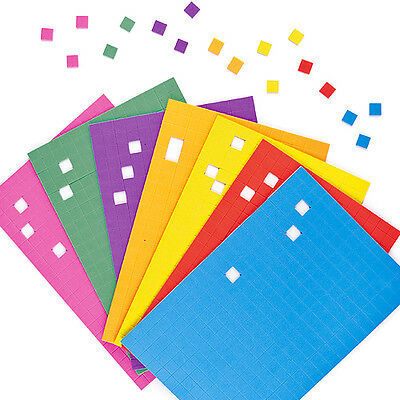 Self-Adhesive Foam Mosaic Squares for Kid's Craft Activities (Pack of 2000)