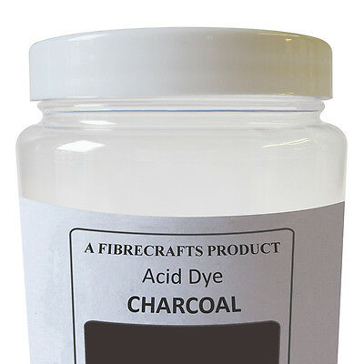 50g Fibrecrafts Acid Dye - Charcoal - 100% Dye Stuff for Silk, Wool, Nylon