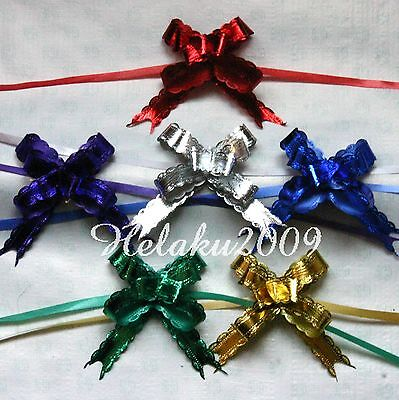 60pcs 18x390mm Pull Flower Ribbon Bow Gift Wrap 6 COLOR