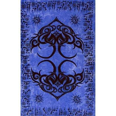 Istanbul Blue Tribal Rayon Sarong, Banner or Altar Cloth!