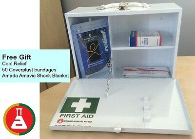 EMPTY First Aid kit metal wall mount box medical FREE ITEMS INCLUDED