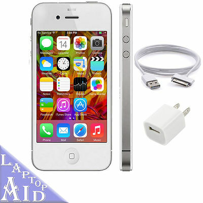 Apple iPhone 4S 16GB - AT&T - White Smartphone - Good Condition