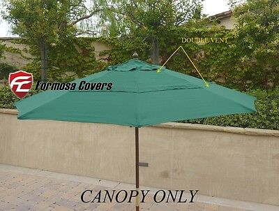 Double Vented Replacement Umbrella Canopy For 9ft 8 Ribs Market Patio Umbrella G