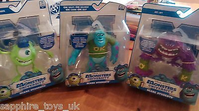 MONSTERS UNIVERSITY SCARE STUDENTS - SET OF 3 FIGS - Art, Sulley + Mike - NEW