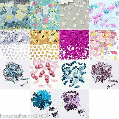 Baby Shower Christening Confetti Boys Girls Unisex Decorations Partyware Table