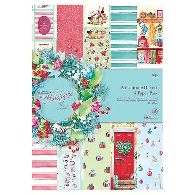 A4 Ultimate Paper & Die Cut Pack - At Christmas - Lucy Cromwell - Docrafts