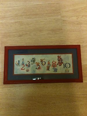 Nice Kids Homco Home Interior 9 X 18 Number Picture Signed Plastic