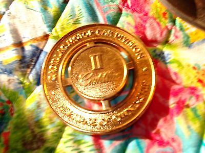 CADILLAC HERITAGE OF OWNERSHIP GOLD GRILLE MEDALLION BADGE II