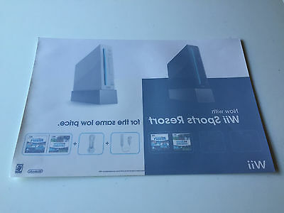 WINDOW CLING for Nintendo Wii System Console Black White POSTER *NO Game System*