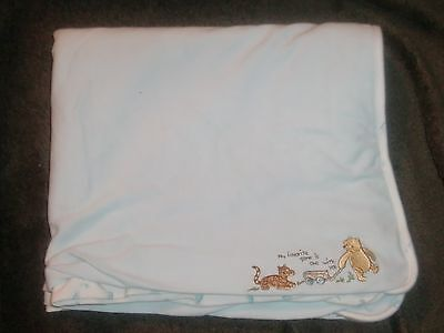 CLASSIC WINNIE THE POOH BLUE MY FAVORITE GAME IS ONE WITH YOU BABY BLANKET BOY