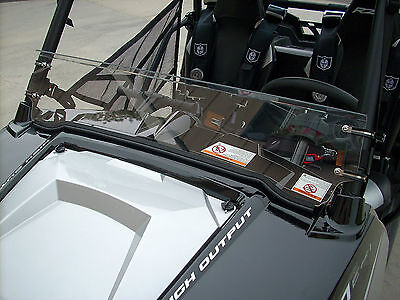"1/4"" thick POLARIS RZR, RZR4 800 570 900 (doesnt fit 2015+ 900) HALF WINDSHIELD"