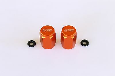 Airtime Cnc Billet Valve Stem Cap For Motocross Bike Ktm-Orange