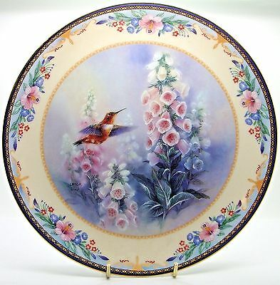 Lena Liu Hummingbird Plate ~ WHISPERING WINGS ~