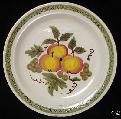 Stangl Apple Delight Serving Plate Needs Carrying Handle
