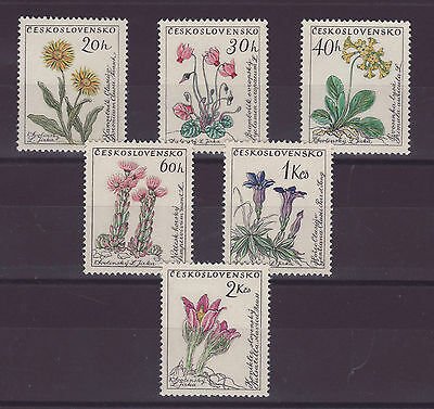 Cecoslovacchia flowers stamps 1960