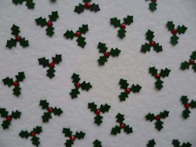 Miniature Holly With Berry Craft Embellishments