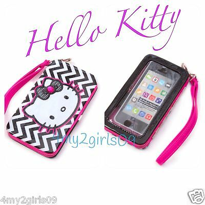 SANRIO HELLO KITTY - IPHONE 5S 5 -❤ LOUNGEFLY CLUTCH WRISTLET WALLET PURSE