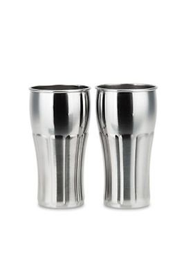 Ecococoon Stainless Steel Retro Milkshake Style Cups - set of 2