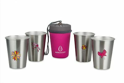Ecococoon Stainless Steel Cup Set of 4 - Enchanted Garden