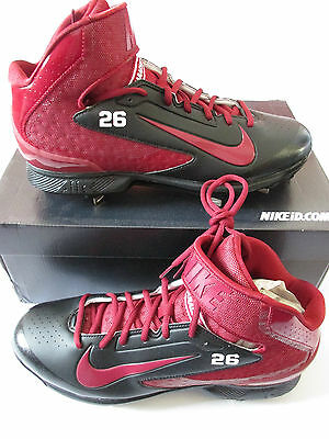 nike ID air hurache mid pro metal mens baseball cleats 647148 991 uk 9.5 us 10.5