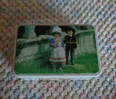 """COLLECTABLE -FRENCH COOKIE TIN """"GALETTES DE L'AER"""" EXCLNT. COND. MADE IN FRANCE"""