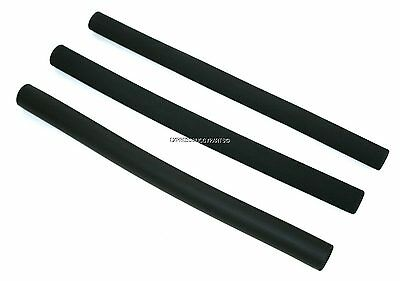 SMOOTH or ROUGH - LONG BUGGY HANDLE BAR FOAM GRIP COVER BLACK PUSHCHAIR STROLLER