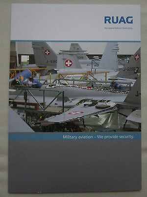 Depliant Ruag Military Aviation Suisse F/a-18 Swiss Air Force Uav Air Defence