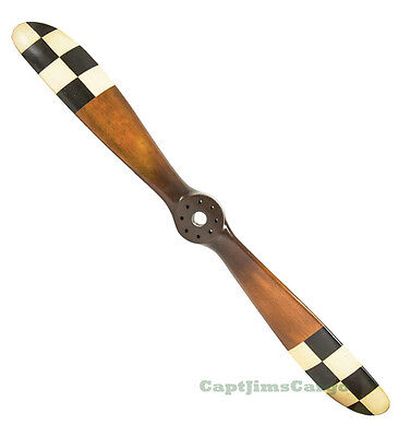 "Barnstormer #3 Checkered Flag WWI Wooden Propeller 47"" Airplane Aviation Decor"
